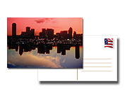 4x6 inch postcard from and back with city scape on front