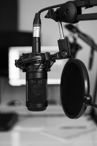 microphone at a radio station